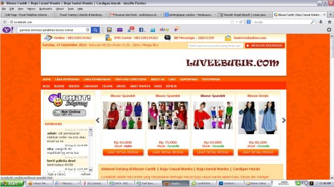 kursus privat membuat website toko online secara tatap muka / offline